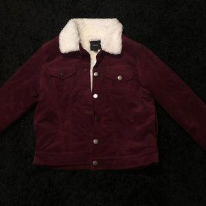Forever 21 plum corduroy jacket